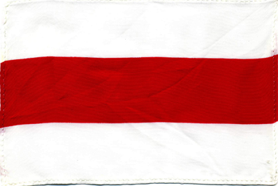 unknown flag with horizontal white and red fields