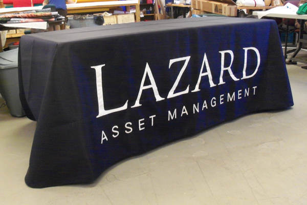 Table Drape custom by Accent Banner