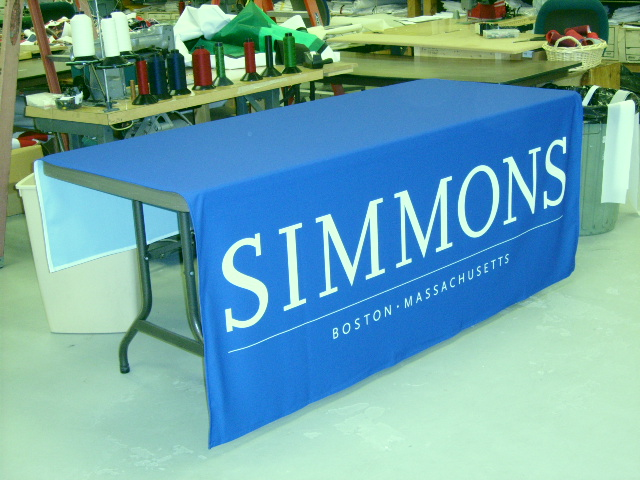 custom table drape by Accent Banner