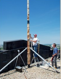 installing a flagpole