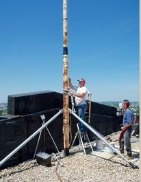 installing a flagpole