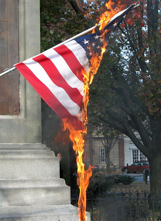 a look at the controversy surrounding flag burning Flag burning essay examples 19 total results a description of the desecration of stars and stripes a look at the controversy surrounding flag burning.
