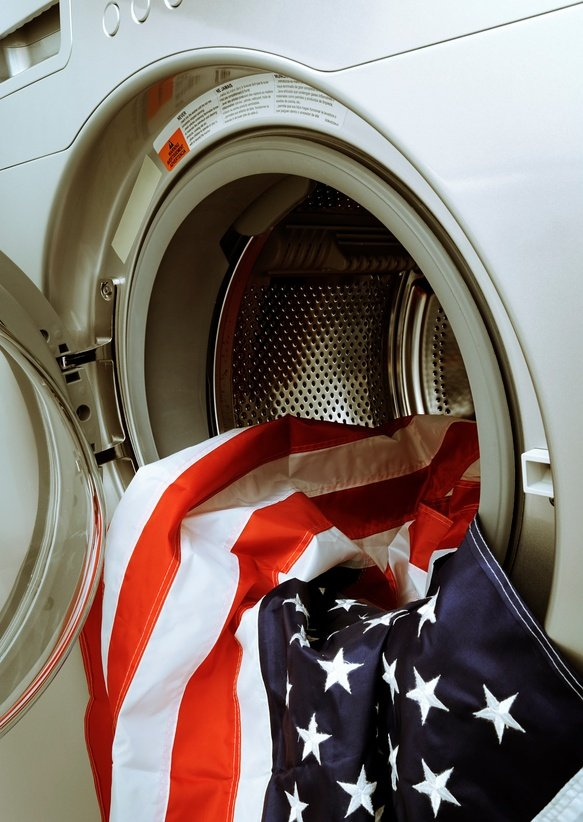 how to wash a flag